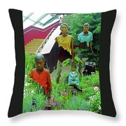Flower Dome 34 Throw Pillow