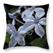 Flower Droplets Throw Pillow
