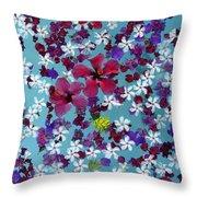 Flower Fantasy Guatemala Throw Pillow