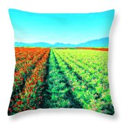 Flower Farm 1 Throw Pillow