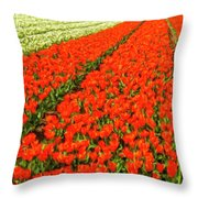 Flower Farm 2 Throw Pillow