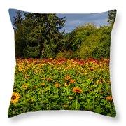 Flower Farm Throw Pillow