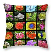Flower Favorites Throw Pillow
