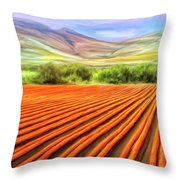 Flower Field Near Los Osos Throw Pillow
