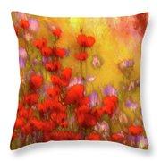 Flower Fields Of Summer Throw Pillow