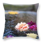Flower Floats Throw Pillow
