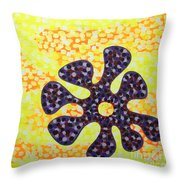 Flower For Rafa Throw Pillow