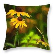Flower Friends Throw Pillow