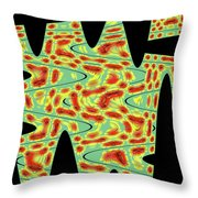 Flower From Mt Ord Abstract Throw Pillow