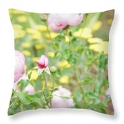 Flower Garden Bouquet Throw Pillow