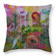 Flower Garden 2 Throw Pillow