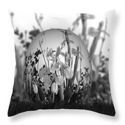 Flower Garden For Coloring Throw Pillow