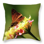 Flower Garden Friend Throw Pillow