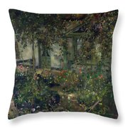 Flower Garden In Bloom Throw Pillow