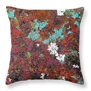 Flower Garden In The Rust Throw Pillow