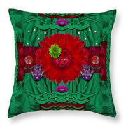 Flower Girl With Sunrose In Her Hair And Pandabears Throw Pillow