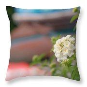 Flower Grow Throw Pillow