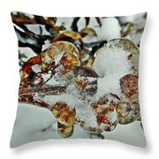 Flower Icicle. Throw Pillow