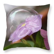 Flower In A Bubble Throw Pillow