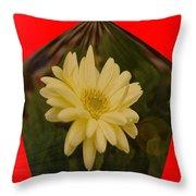Flower In A Pentagon  Throw Pillow