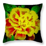 Flower In Abstract With Black Background Throw Pillow
