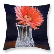 Flower In Crystal Vase Throw Pillow