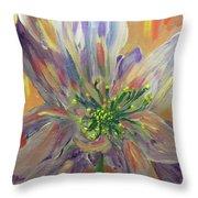 Flower In Morning Light Throw Pillow