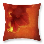 Flower In Red Throw Pillow