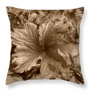 Flower In Sepia Throw Pillow