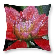 Flower In Stain Glass Throw Pillow