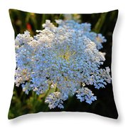 Flower In The Field  Throw Pillow