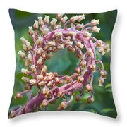 Flower In The Round Throw Pillow