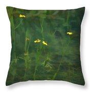 Flower In The Stream - Digital Art Throw Pillow