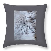 Flower In Winter Throw Pillow