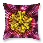 Flower - Intense Passion  Throw Pillow by Mike Savad