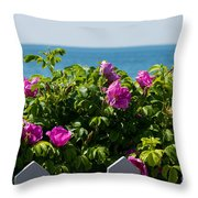 Flower Island View Throw Pillow