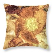 Flower-k Throw Pillow