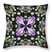Flower Kaleidoscope_001 Throw Pillow
