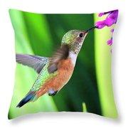 Flower Kisser Throw Pillow
