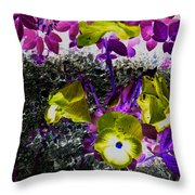 Flower Like Purple And Yellow Throw Pillow
