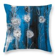 Flower Lineup Throw Pillow
