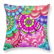 Flower Magic Throw Pillow