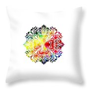 Flower Mandala 3 Throw Pillow