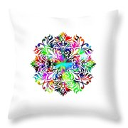 Flower Mandala 4 Throw Pillow