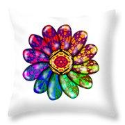 Flower Mandala 6 Throw Pillow