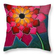 Flower Mandala-a Throw Pillow