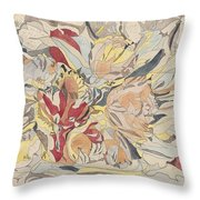 Flower Market, Theo Colenbrander, 1917 Throw Pillow
