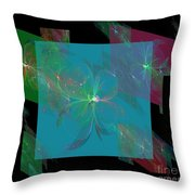 Flower Mirrors Throw Pillow