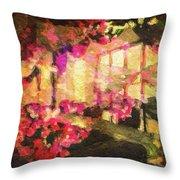 Flower Mix Throw Pillow