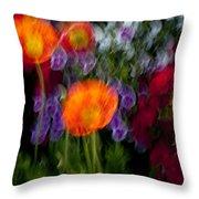 Flower Motion Throw Pillow